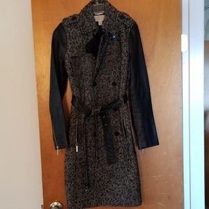 MICHAEL Michael Kors Jackets & Coats - Michael Kors Tweed & Leather Trenchcoat